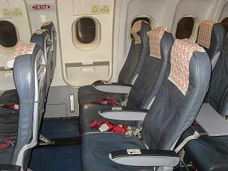 Seat economy class in Airbus A320 Azerbaijan airlines