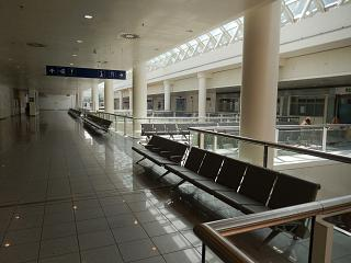 The waiting room on the second floor in a clean area at Brussels airport