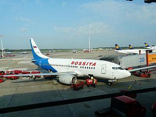 Боинг-737-500 авиакомпании Россия в аэропорту Гамбурга