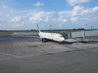 Boeing-737-800 Aeroflot at the airport Novosibirsk Tolmachevo