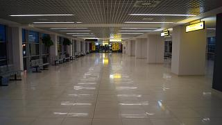 In the clean zone of terminal 2 of Belgrade airport