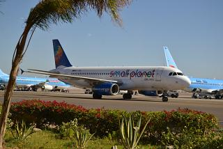 Airbus A320 Small Planet Airlines at the airport of Sharm El-Sheikh