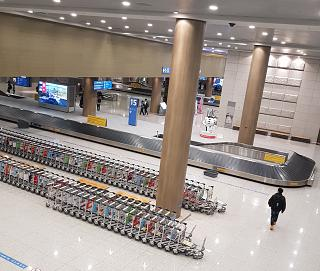 The baggage claim area at the airport Seoul Incheon