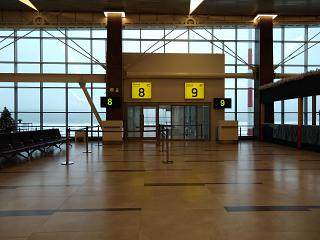 The gate in the new terminal of airport Krasnoyarsk Emelyanovo