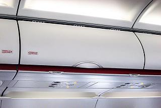 The overhead bin in the Airbus A320 Air France