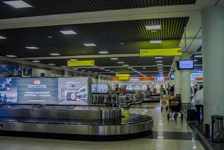 The baggage claim area in terminal E of Sheremetyevo airport
