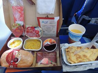 Kosher meal on a flight of Aeroflot Moscow-Brussels