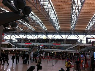 The terminal 1, Hamburg airport