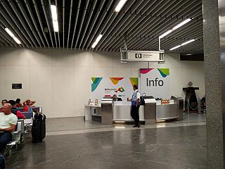 Information Desk at the airport of Rio de Janeiro Gale
