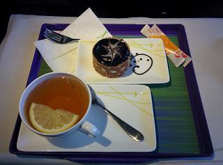 Десерт в бизнес-классе S7 Airlines на рейсе Новосибирск-Москва