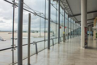 In the clean area of Valencia airport