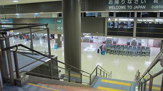The baggage reclaim area and customs control at the airport Tokyo Narita