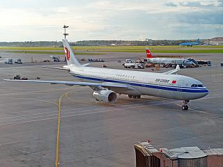The Airbus A330-300 Air China airlines at Sheremetyevo airport