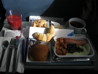 Питание на рейсе Астана-Санкт-Петербург авиакомпании Air Astana