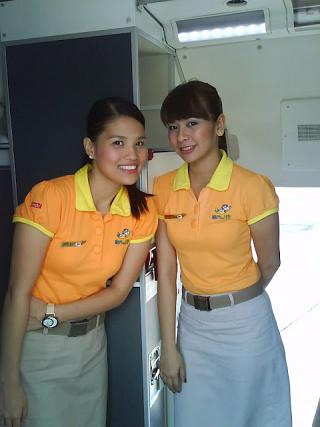 The airline flight attendants Cebu Pacific Air
