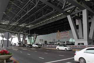 At the airport in Bangkok, Suvarnabhumi