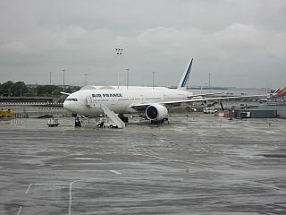 Boeing 777-300 Air France in new York airport Kennedy