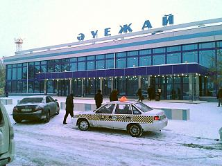The terminal building of the airport of Pavlodar