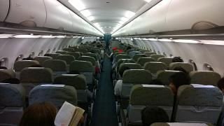 The cabin of the Airbus A321 Vietnam airlines