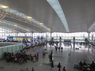 In the international terminal of airport Hanoi, Noi Bai