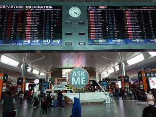 Central information Desk and display in the airport of Kuala Lumpur
