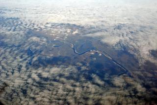Река Нижняя Тунгуска в Восточной Сибири