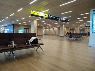 On the second floor of the new terminal of airport Krasnoyarsk Emelyanovo