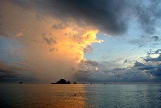 Sunset over Andaman sea in Krabi province