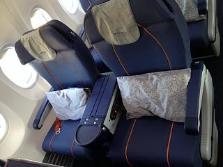 Seats in business class on the Boeing-737-800 Aeroflot