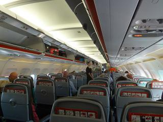 The cabin Airbus A320 JetStar Airways