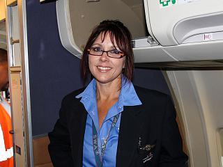 Airline stewardess Southwest Airlines