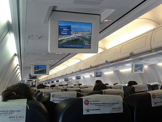 The cabin of the aircraft Boeing-737-800 Pegasus airlines