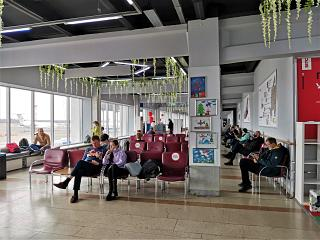 In a clean area of Izhevsk airport