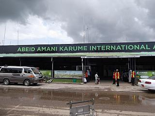 The terminal of the airport of Zanzibar