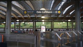 Железнодорожная станция в аэропорту Осло Гардермуэн