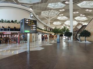 In the clean zone of terminal 1 of the airport of Baku named after Heydar Aliyev