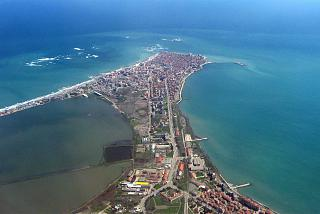 Views of the Bulgarian resort town of Pomorie