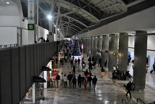 Concourse C of the terminal T1 of the airport of Mexico city Benito Juarez