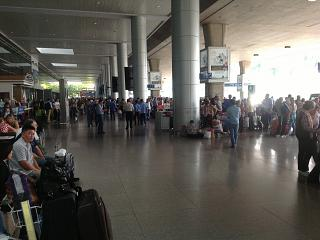 At the exit of airport Ho Chi Minh city tan son Nhat