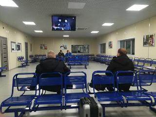 Waiting room at Ust-Ilimsk airport