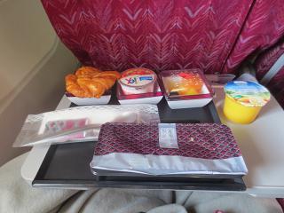 Flight meals on the flight Doha to Nairobi Qatar Airways