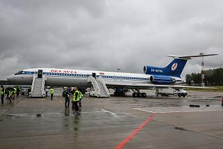 The Tu-154M Belavia EW-85748 in Minsk airport