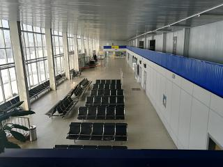 General view of the terminal of the airport of Bratsk