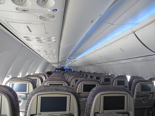 The cabin of the aircraft Boeing-737-800 airline Flydubai