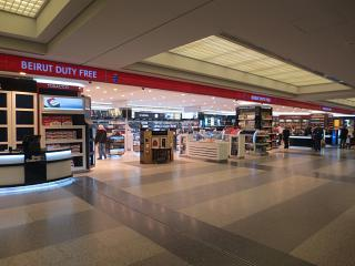 The Duty Free store in the arrivals area of the airport in Beirut