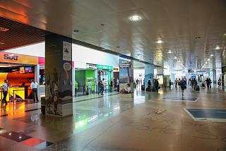 The arrivals area at the airport of Funchal on Madeira island