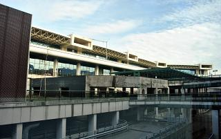 The passenger terminal T1 of the airport of Milan Malpensa