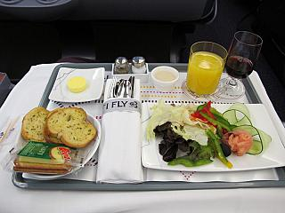 In business class Thai Airways