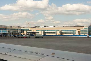 Construction of new terminal at Domodedovo airport