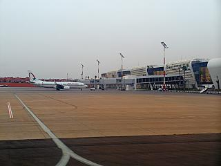 The new passenger terminal of the airport of Marrakech Menara